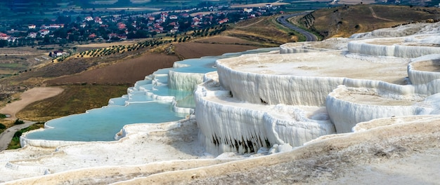 Pamukkale travertin pool in der türkei