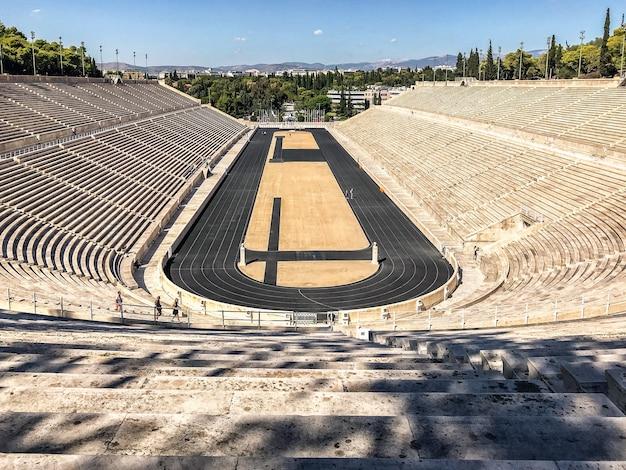 Panathenaic stadion oder kallimarmaro antikes stadion in athen