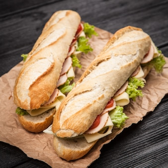 Panini gegrilltes sandwich