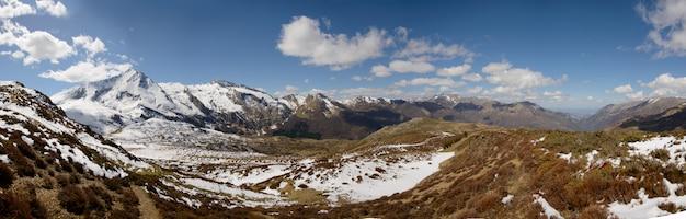 Panorama der französischen pyrenäen, col du soulor