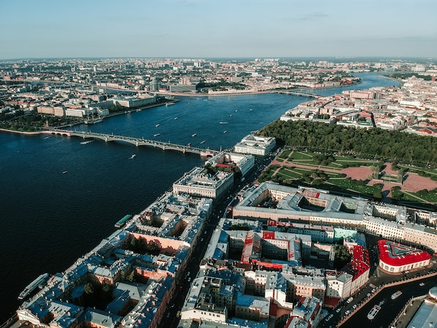 Panorama der innenstadt von sankt petersburg