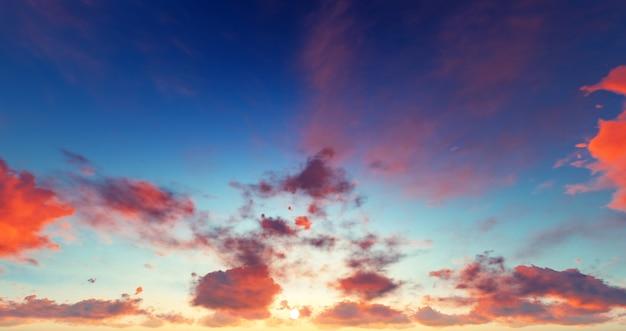 Panorama der wolken.
