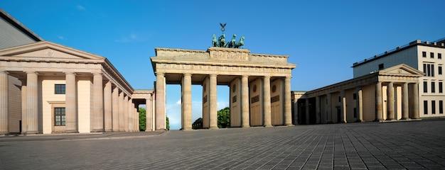 Panorama des brandenburger tors in berlin