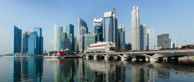 Panorama des geschäftszentrums von singapur