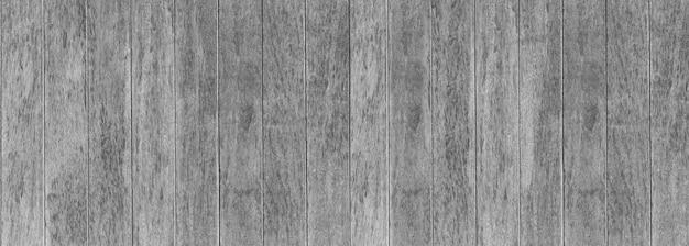 Panorama grauer holzbeschaffenheitshintergrund, wände des innenraums für designnaturhintergrund.