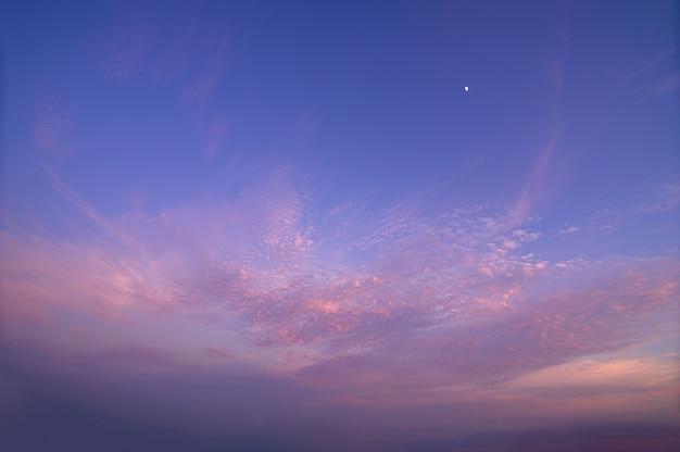 Panorama himmel und sonne am abend