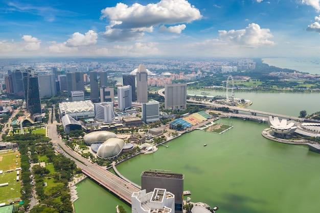 Panorama-luftaufnahme von singapur
