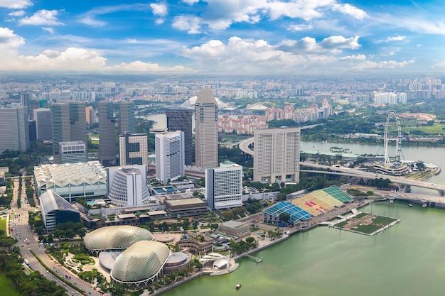 Panorama-luftbild von singapur