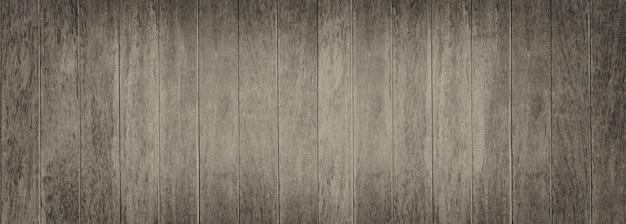 Panorama vintage holzbretter mit plankenhintergrund für das design in ihrem arbeitshintergrundkonzept.