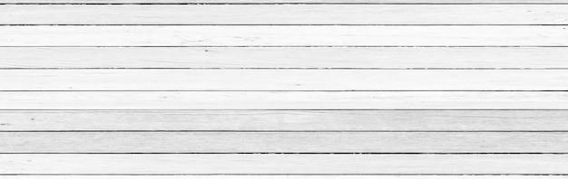 Panorama, vintage weiße holzwanddetail als hintergrund oder textur, natürliches muster. leerer kopienraum.