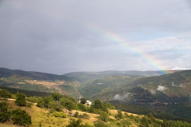 Panorama von bergen.
