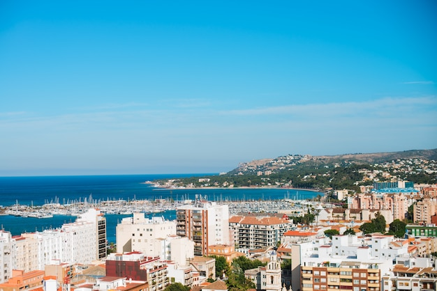 Panorama von denia in der costa blanca