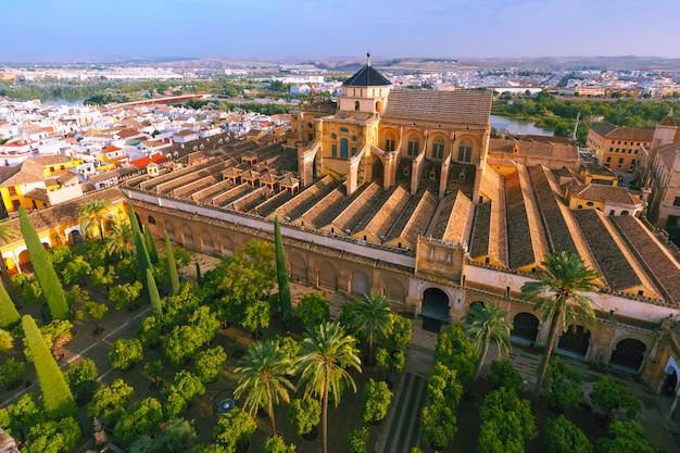 Panorama von mezquita in cordoba, spanien