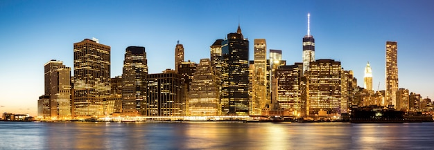 Panorama von new- york citymanhattan-skylinen