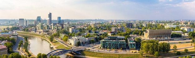 Panorama von vilnius litauen