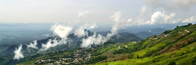 Panoramaberglandschaft phutabberk thailand