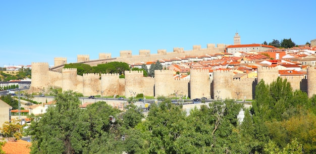 Panoramablick auf avila, spanien