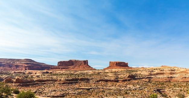 Panoramablick auf den canyon im dead horse state park, utah usa