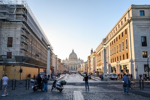 Panoramablick auf den vatikan