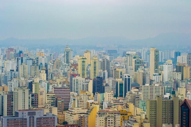 Panoramablick auf die innenstadt von sao paulo.