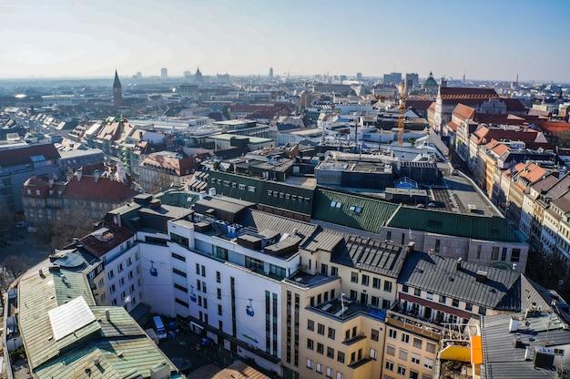 Panoramablick auf die münchner innenstadt.