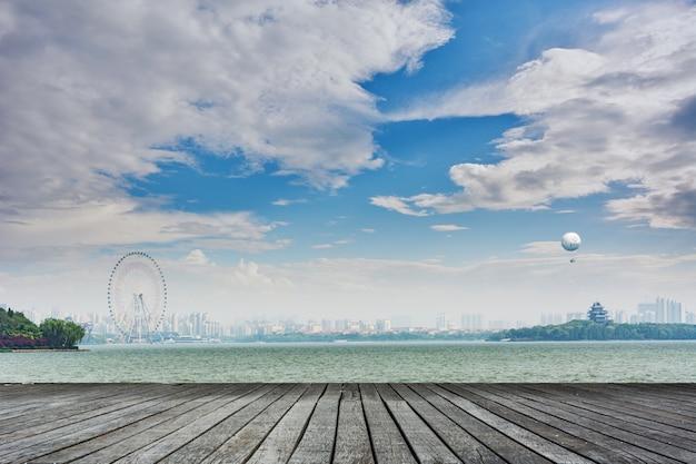 Panoramablick auf eine stadt