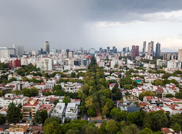 Panoramablick auf mexiko-stadt - polanco