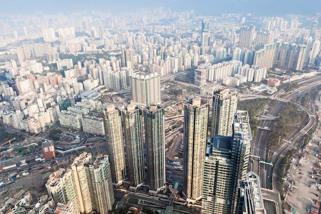 Panoramablick nach hong kong