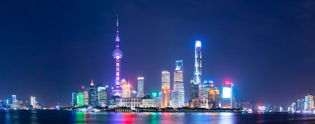 Panoramablick von lujiazui, shanghai