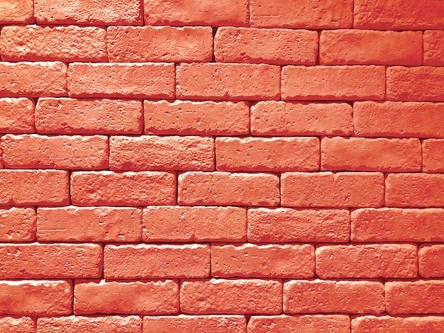 Panoramische hintergrundbeschaffenheit der breiten wand des roten backsteins. haus und büro design kulisse