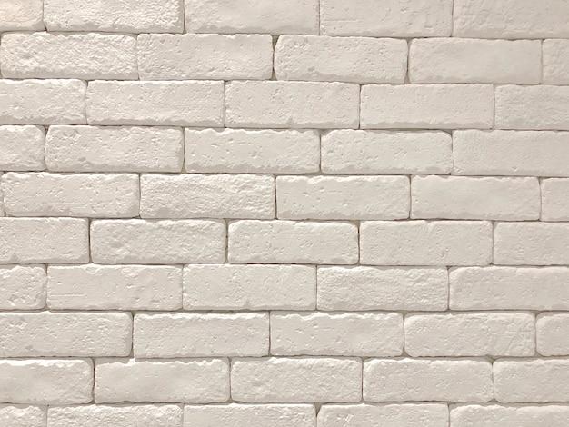Panoramische hintergrundbeschaffenheit der breiten weißen backsteinmauer. haus und büro design kulisse
