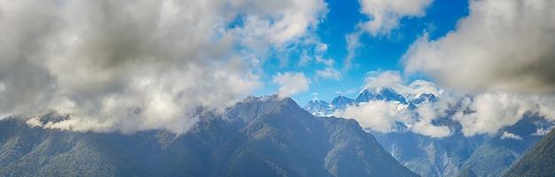 Panoramischer aoraki-berg-koch in neuseelands südinsel