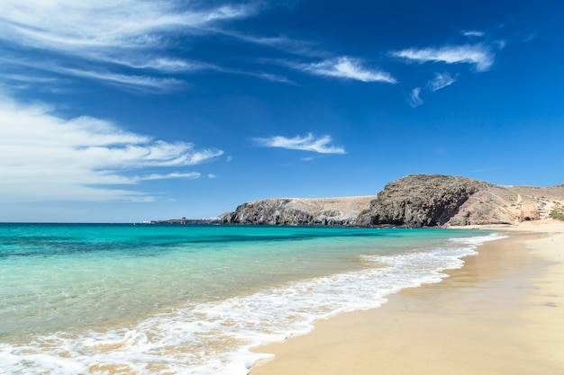 Papagayo beach, lanzarote, kanarische inseln