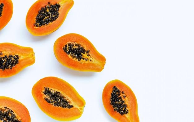 Papaya-frucht.