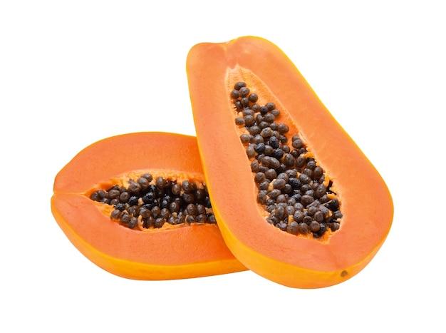 Papaya isoliert auf weißem hintergrund