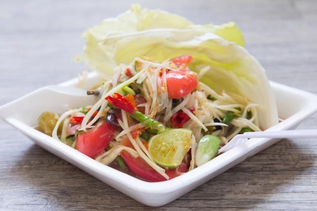 Papaya-salat, thai-food-name som tum
