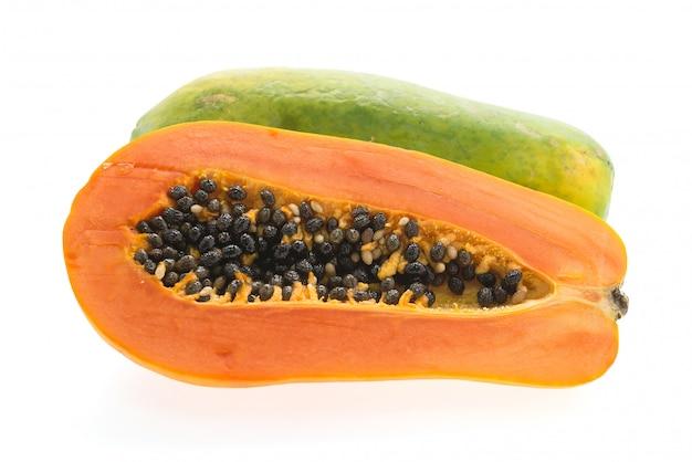 Papayafrucht getrennt