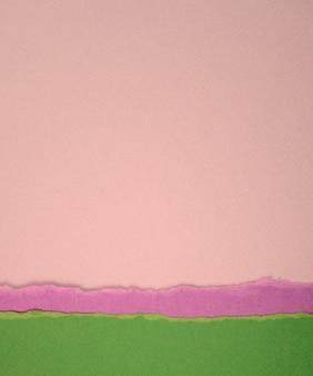 Papier abstrakte textur hintergrund leere zerrissene grün lila neutrale und rosa papiere
