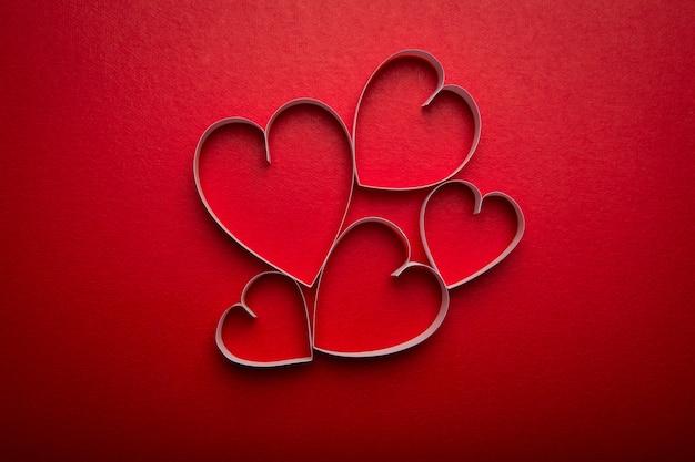 Papier herzform für valentinstag mit kopie raum fo