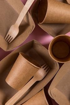 Papier umweltfreundliche utensilien