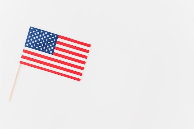 Papierflagge der vereinigten staaten von amerika