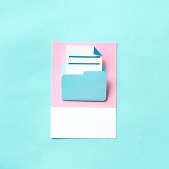 Papierhandwerkskunst des dokumentenordners
