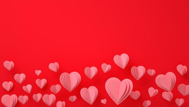 Papierherzen valentinstaghintergrund