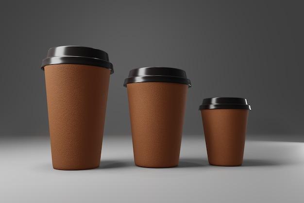 Papierkaffeetasse 3d übertragen