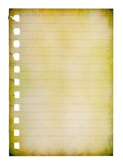Papierseitennotizbuch strukturiert isoliert auf den weißen hintergründen