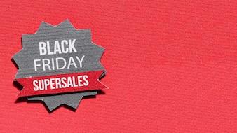 Papierstern mit Black Friday Angebot