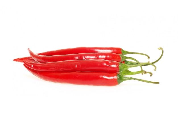 Paprika auf weißer wand