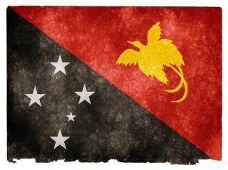 Papua-neuguinea grunge flag