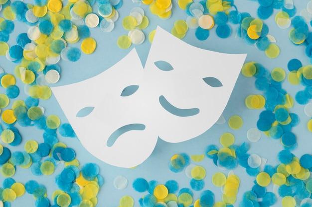 Parade-maske und zubehör sowie theatermasken