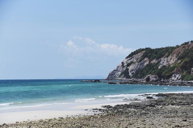 Paradiesinsel-seesommertag des inselstrandes schöner tropischer ozean